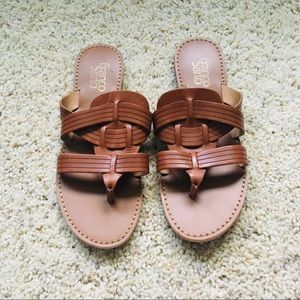 Leather woven sandals from Franco Sarto
